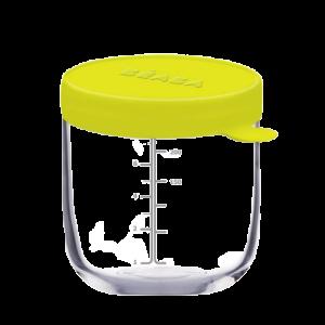 Hũ thủy tinh Pháp chịu nhiệt Béaba 250ml Xanh Neon